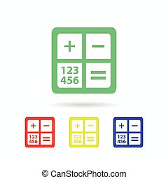 calculator icon. isolated on white background
