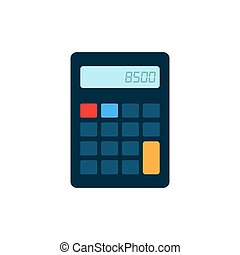 Calculator icon. Isolated on white. Vector