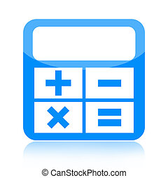 Calculator icon isolated over white background