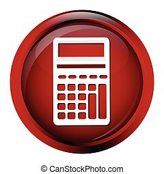Calculator icon on red button