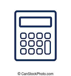 Calculator icon on white background, vector illustration