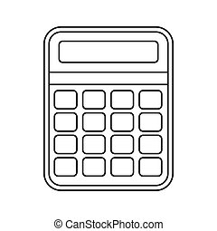 Calculator icon, outline style