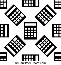 Calculator icon pattern on white background. Vector Illustration