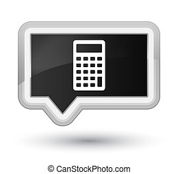 Calculator icon prime black banner button