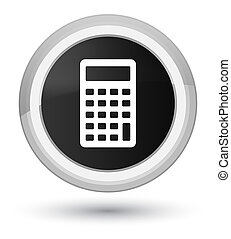 Calculator icon prime black round button
