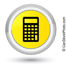 Calculator icon prime yellow round button