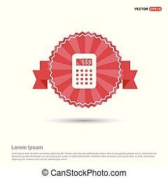 Calculator icon - Red Ribbon banner