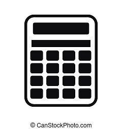Calculator icon, simple style