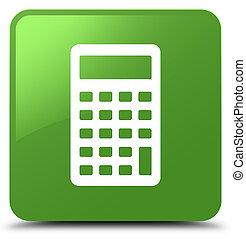 Calculator icon soft green square button