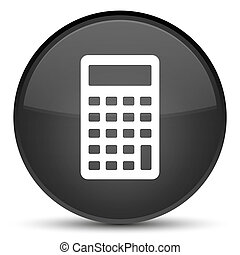Calculator icon special black round button