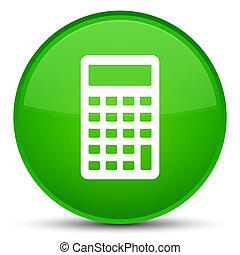 Calculator icon special green round button