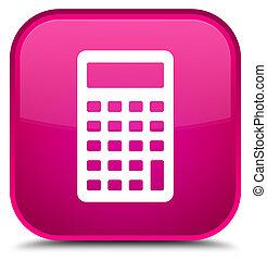 Calculator icon special pink square button