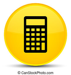Calculator icon special yellow round button