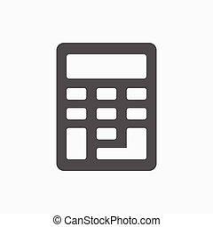 Calculator icon stock vector illustration flat design
