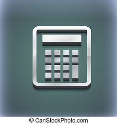 Calculator icon symbol. 3D style. Trendy, modern design with space for your text . Raster