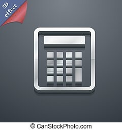 Calculator icon symbol. 3D style. Trendy, modern design with space for your text Vector