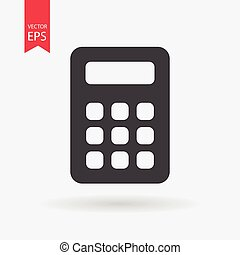 Calculator Icon Vector. Calculator sign isolated on white background