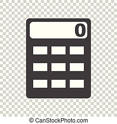 Calculator icon vector flat