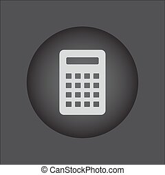 Calculator Icon. Vector icon isolated. black button