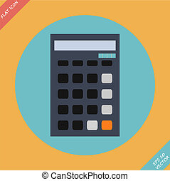 Calculator icon - vector illustration. Flat design