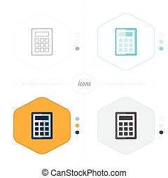 calculator icon, vector illustration. Flat design style