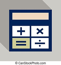 Calculator icon vector. Savings, finances sign. Flat style for graphic design.