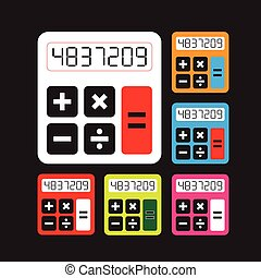 Calculator icons  set