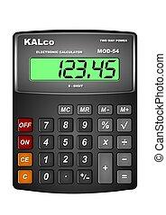Calculator - Illustration of a digital black calculator with...