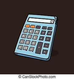 Calculator illustration on color background