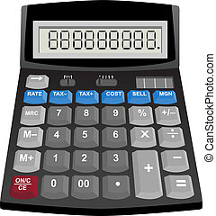 Calculator isolated on a white background.