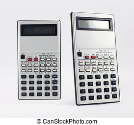 Calculator isolated on white with clipping path