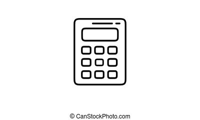 Calculator line icon is one of the Devices icon set. File contains alpha channel. From 2 to 6 seconds - loop.