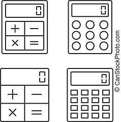 Calculator Line Icons