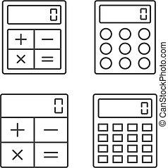 Calculator Line Icons