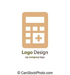 calculator logo brown color