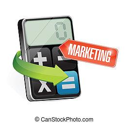 calculator marketing sign illustration design