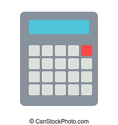 calculator math device flat style icon vector illustration ...