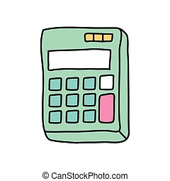 calculator math device free form style icon vector ...