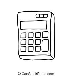 calculator math device line style icon vector illustration ...