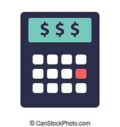 calculator math flat style icon vector illustration design