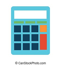 calculator math line and fill style icon vector illustration...