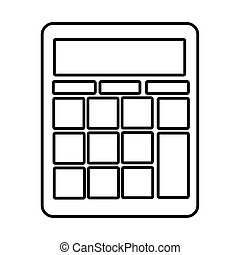 calculator math line style icon vector illustration design