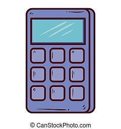 calculator math on white background