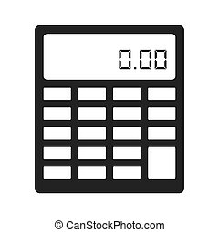 calculator maths numbers icon, vector illustration icon
