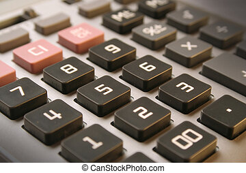 "Calculator - narrow focus on the figure ""5"""