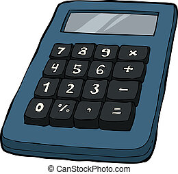 Calculator on a white background vector illustration