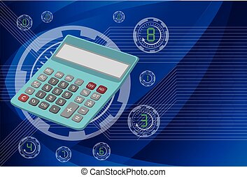 Calculator on background technologies, vector eps10 illustration