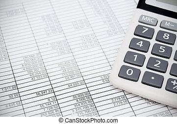 Calculator on documents.