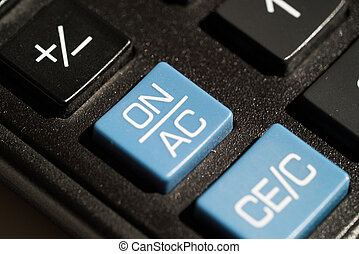 Calculator on off button