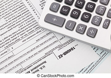 Tax And Calculator On 2015 Irs Form 1040ez Usa Irs Tax Form 1040ez